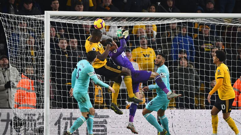 Willy Boly head a late equaliser against Newcastle