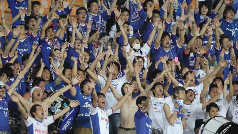 Yokohama Marinos fans at an Asian Champions League game