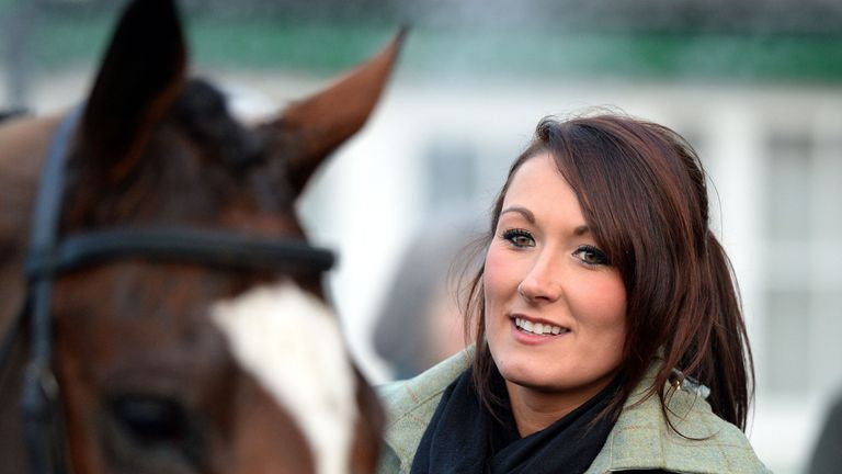 Trainer Rebecca Menzies - hoping for Monday resumption
