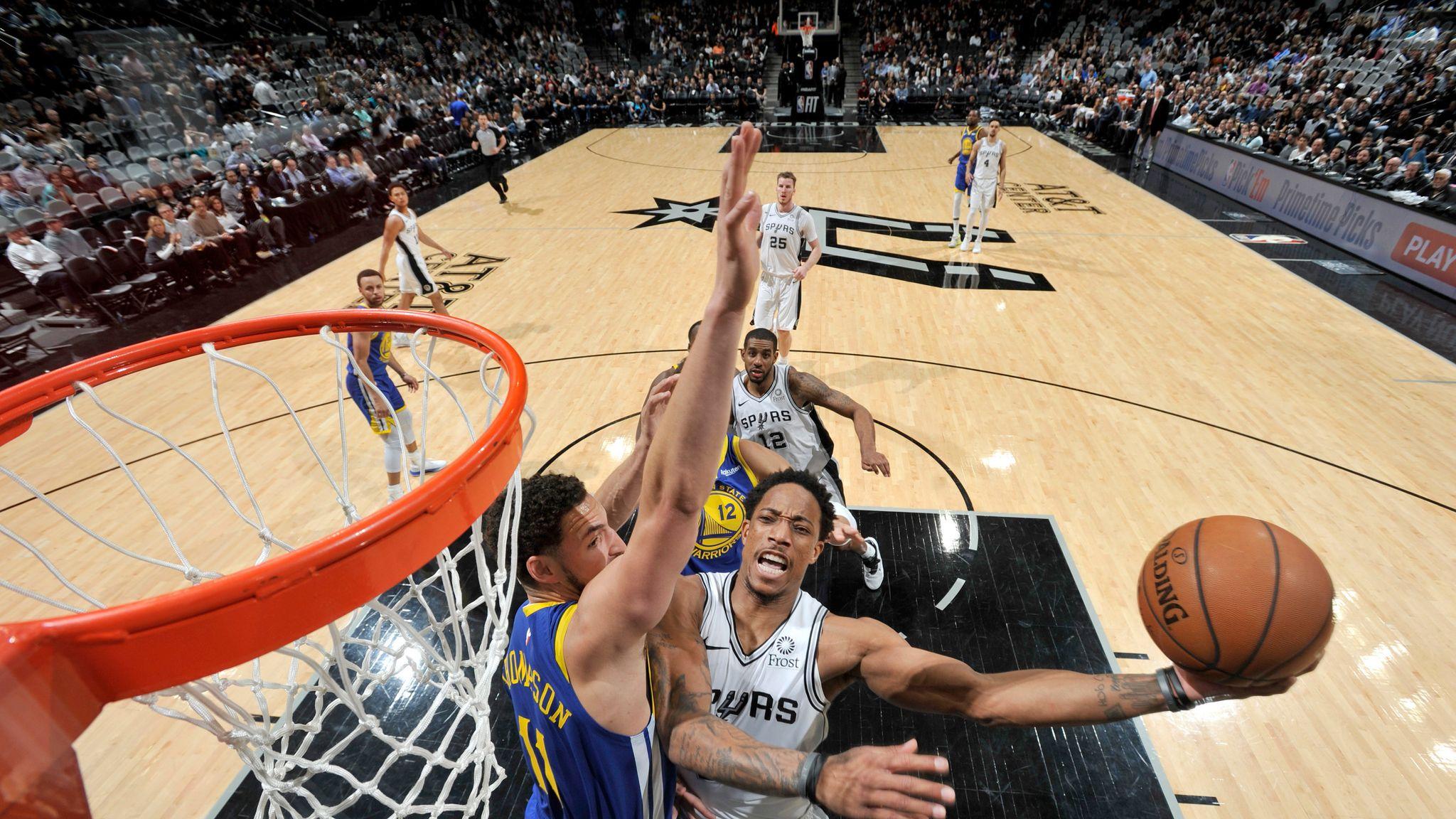 promo code bfe15 457c0 DeMar DeRozan scores 26 points as San Antonio Spurs beat ...