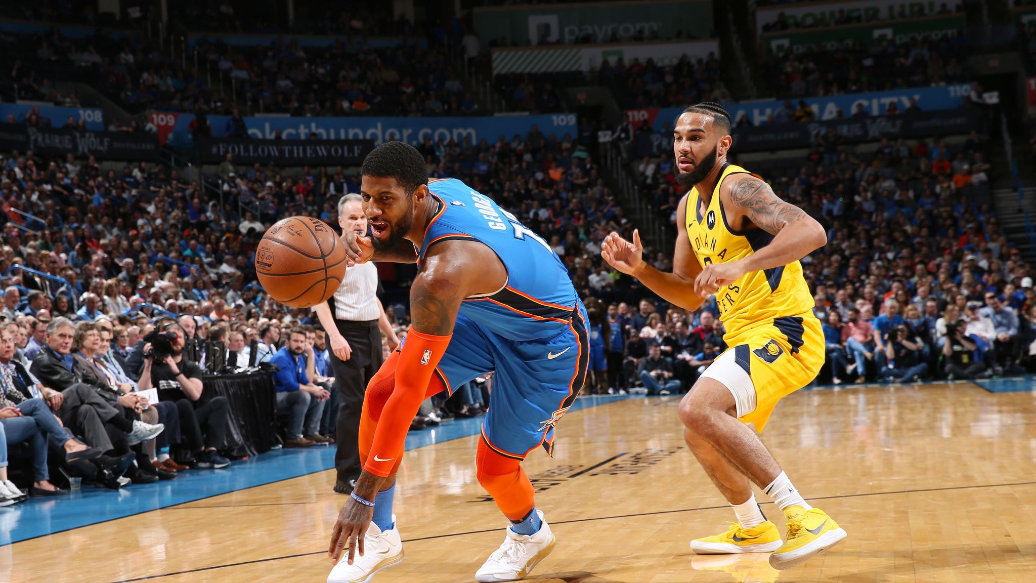 e77d9f4222d Paul George says Oklahoma City Thunder will deliver their gameplan in Game 2  against Portland Trail Blazers
