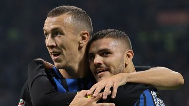 Ivan Perisic (L) and Mauro Icardi could both reportedly be sold by Inter Milan