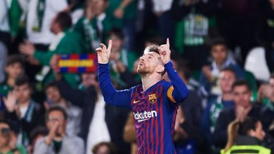 Lionel Messi scored a hat-trick against Real Betis on Sunday
