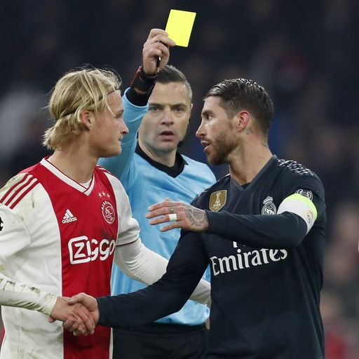Ramos admits Ajax card error