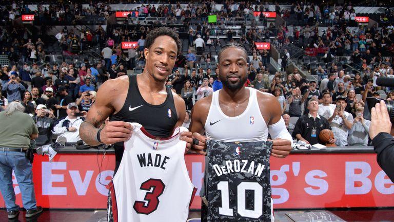 Dwyane Wade beats buzzer from inside his own half in Miami Heat win over San Antonio Spurs | NBA News |