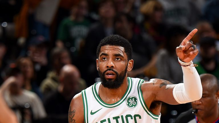 Kyrie Irving runs the Celtics offense against Indiana