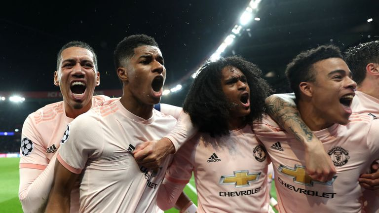 Marcus Rashford's last-gasp penalty sent Manchester United into the Champions League quarter-finals