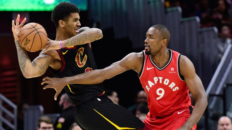 Marquese Chriss and Serge Ibaka  tussle in Cleveland