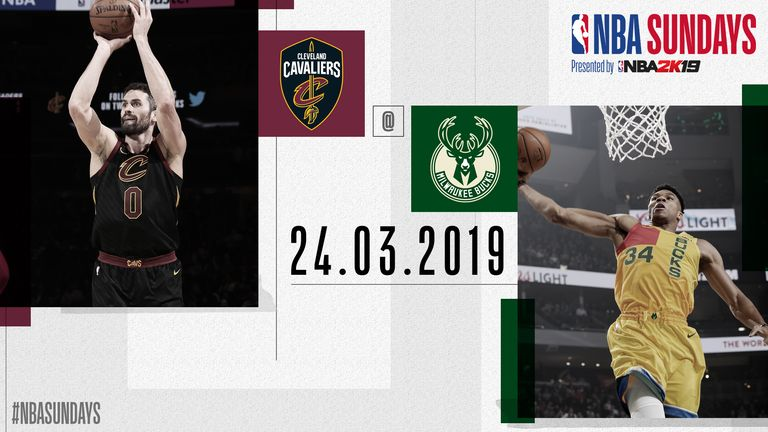The Cleveland Cavaliers visit the Milwaukee Bucks on NBA Primetime - watch live on Sky Sports Arena on Sunday night at 8:15pm