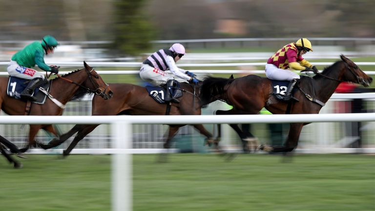 Siruh Du Lac ridden by Lizzie Kelly (right) on the way to winning at Cheltenham