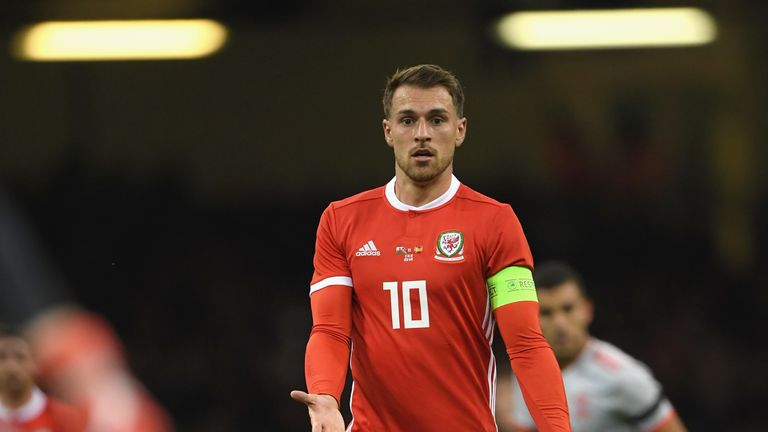 Aaron Ramsey will miss Sunday's qualifier against Slovakia