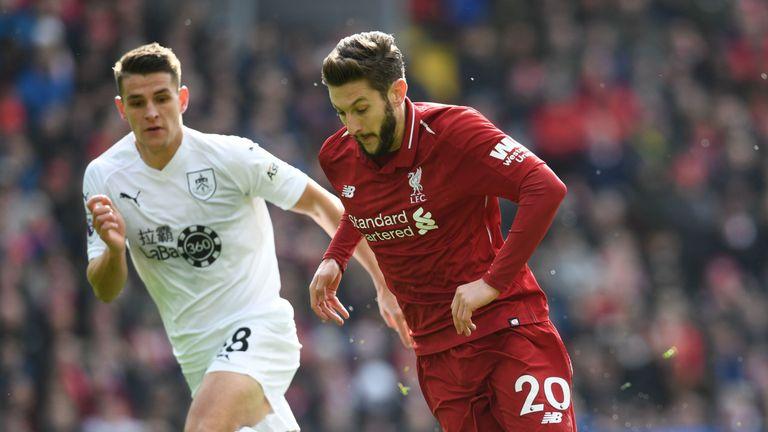 Adam Lallana Liverpool vs Burnley