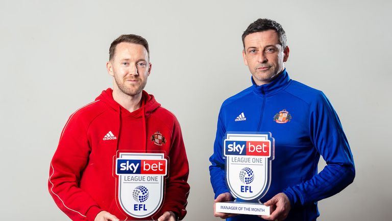 Jack Ross and Aiden McGeady of Sunderland wins the Sky Bet League One Manager and Player of the Month award - Mandatory by-line: Ryan Hiscott/JMP - 05/03/2019 - FOOTBALL - Radisson Blu Hotel - Bristol, England - Sky Bet Manager and Player of the Month Award