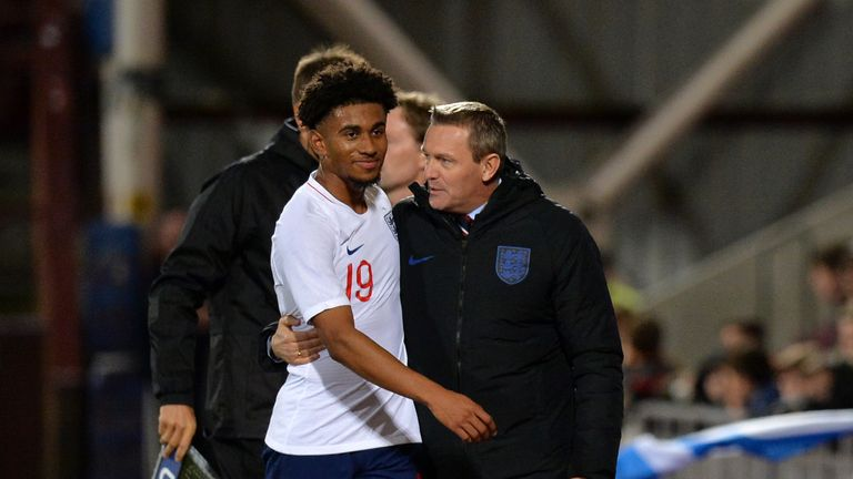 Reiss Nelson is one of two players in Boothroyd's squad to have plied their trade outside of England last season