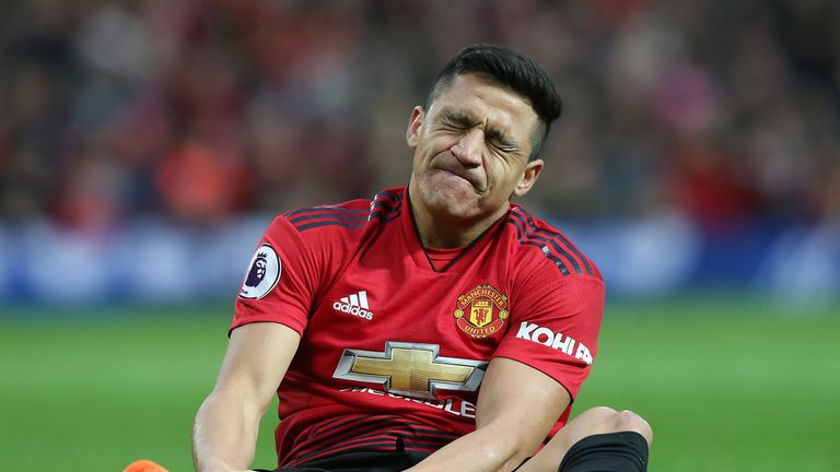 Alexis Sanchez was injured against Southampton on March 2