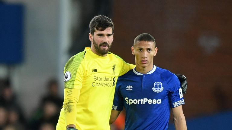 Alisson kept his 17th league clean sheet of the season against Everton