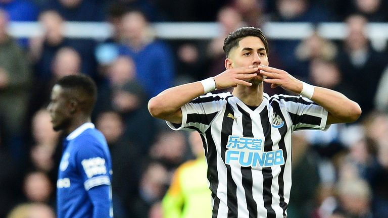 Ayoze Perez contributed to all three Newcastle goals against Everton