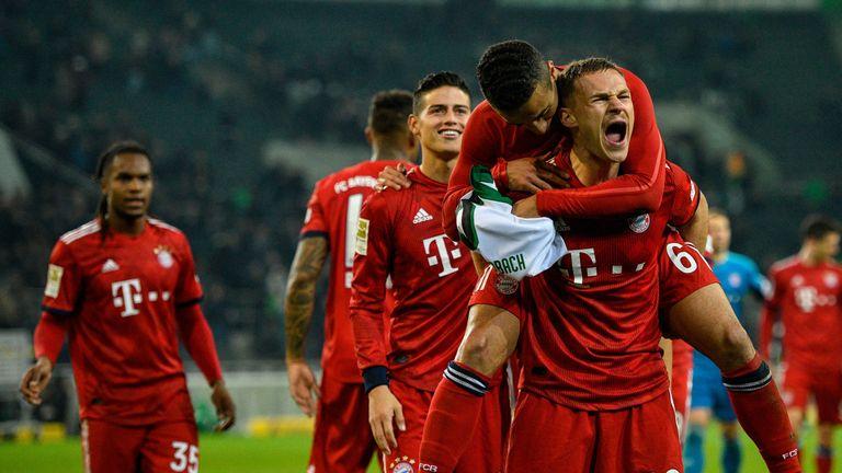 Bayern Munich hit five past Borussia Monchengladbach
