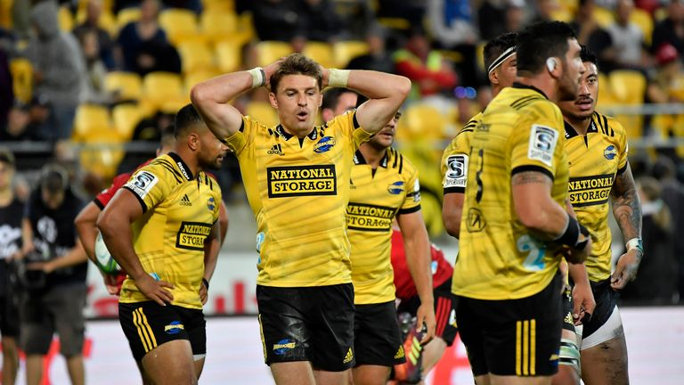Beauden Barrett and co were soundly beaten at home by the defending champions