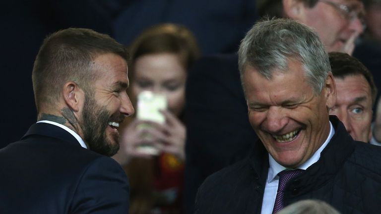 Beckham says he has sought advice from David Gill