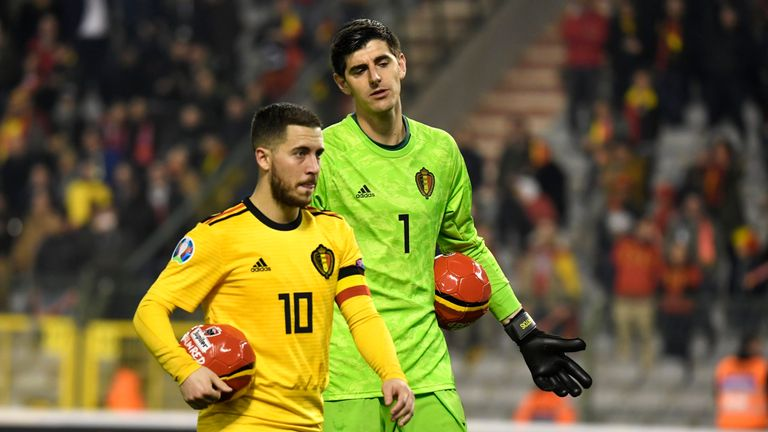 Belgium recovered from Thibaut Courtois' huge blunder to beat Russia