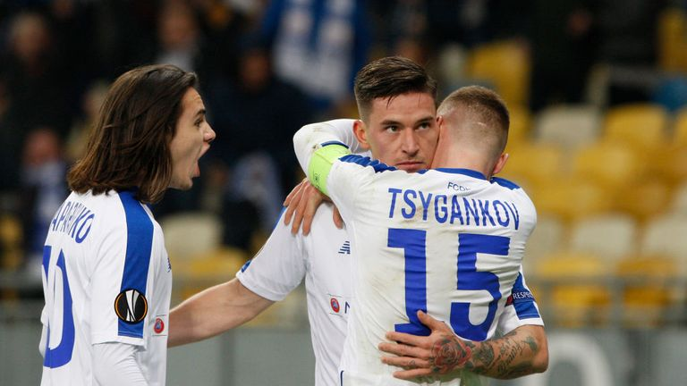 Kiev's Benjamin Verbic is back to face Chelsea in the second leg on Thursday