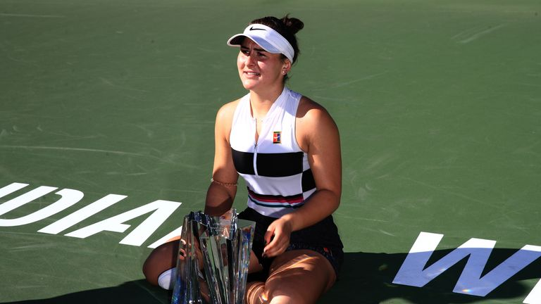 Andreescu beat Angelique Kerber 6-4 3-6 6-4 in the final