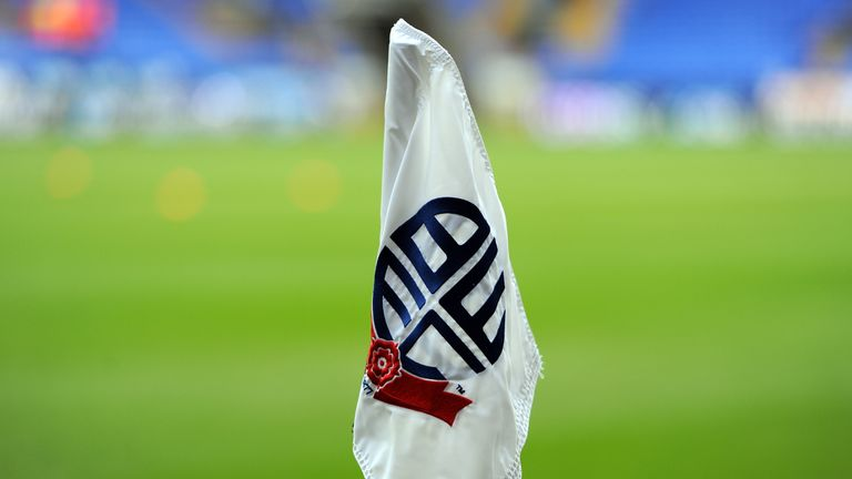 BOLTON, ENGLAND - JANUARY 4:  A general view of a corner flag at the Reebok Stadium during the FA CupThird Round match between Bolton Wanderers and Blackpool at the Reebok Stadium on January 4, 2014 in Bolton, England. (Photo by Clint Hughes/Getty Images).