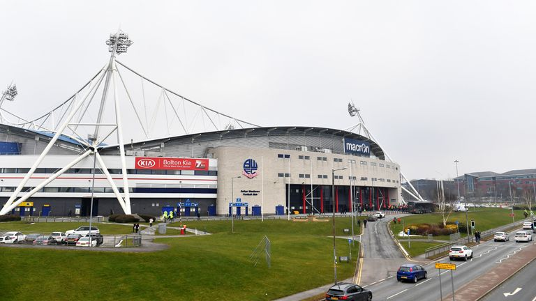 A general view of Bolton Wanderers' Macron Stadium in 2018