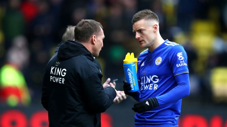 Jamie Vardy has recovered from a knock in time to face Fulham