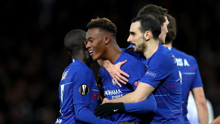 Fans were chanting for Hudson-Odoi's name before he came on