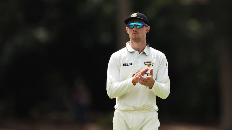 Cameron Bancroft of Western Australia fields during day three of the Sheffield Shield match between New South Wales and Western Australia at Bankstown Oval on February 25, 2019 in Sydney, Australia.
