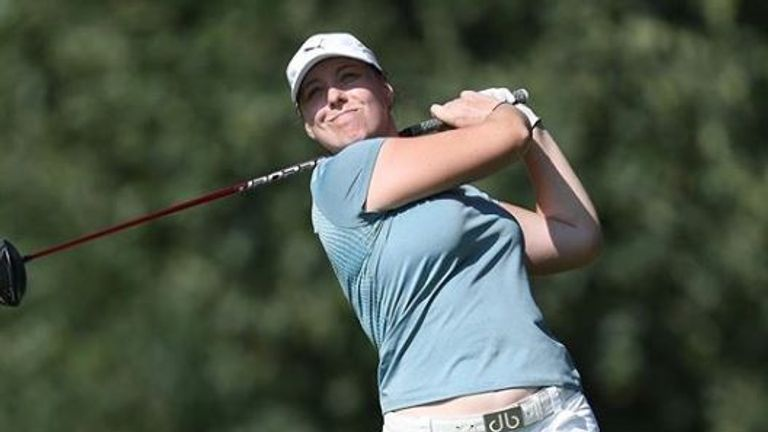 Austwick works part-time to fund her golf career