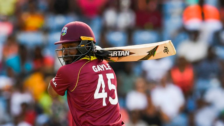 Chris Gayle watched Hazratullah's onslaught in the Afghanistan Premier League