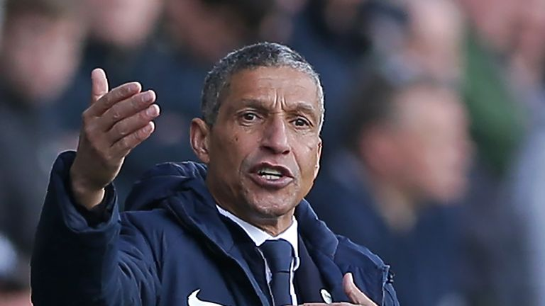 Chris Hughton has been in charge at Brighton since 2014