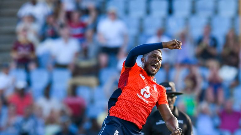 Jordan took two wickets and bowled 10 dot balls in St Lucia on Tuesday night