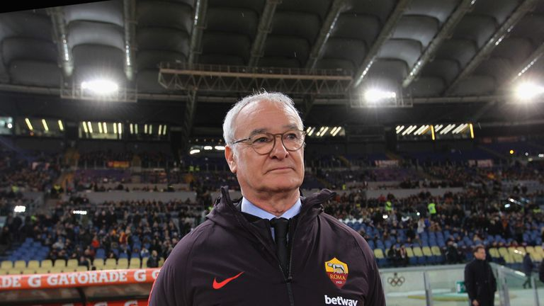 AS Roma head coach Claudio Ranieri looks on during the Serie A match between AS Roma and Empoli at Stadio Olimpico on March 11, 2019 in Rome, Italy.  (Photo by Paolo Bruno/Getty Images)