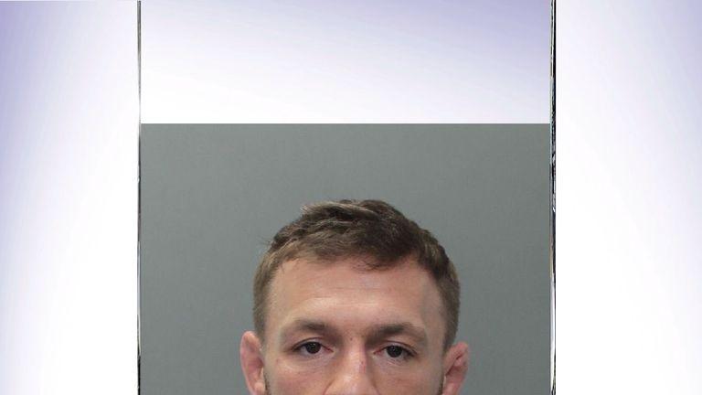 Conor McGregor was arrested in south Florida (Courtesy of Miami Beach police)