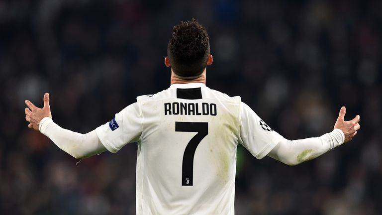 Cristiano Ronaldo scored a hat-trick for Juventus against Atletico Madrid in the Champions League