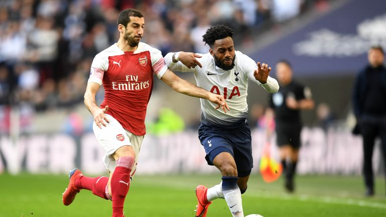 Danny Rose finished the north London derby in a central midfield role