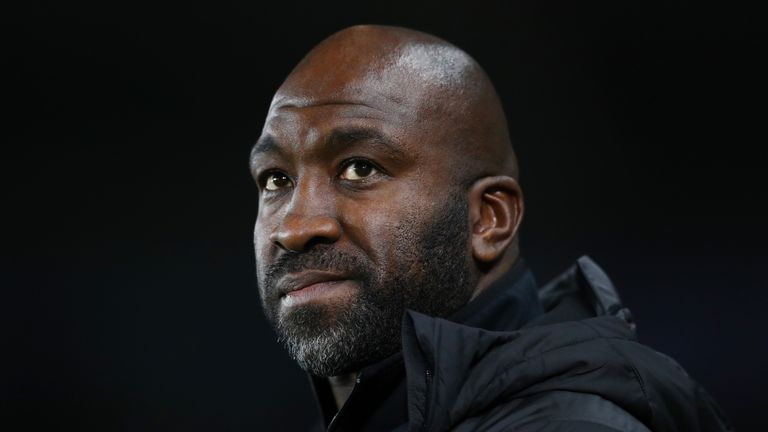 Darren Moore during the Sky Bet Championship match between Swansea City and West Bromwich Albion at the Liberty Stadium on November 28, 2018 in Swansea, Wales.