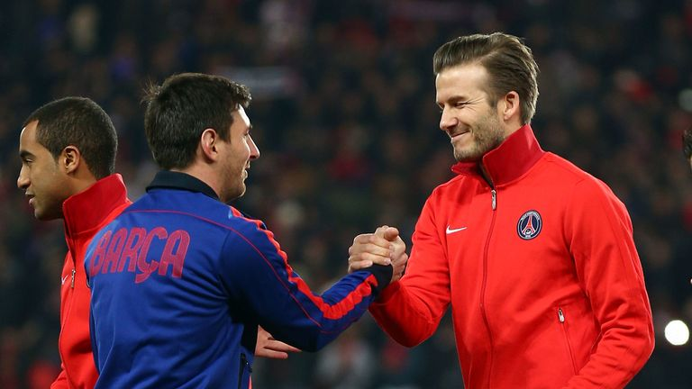 Beckham played against Messi