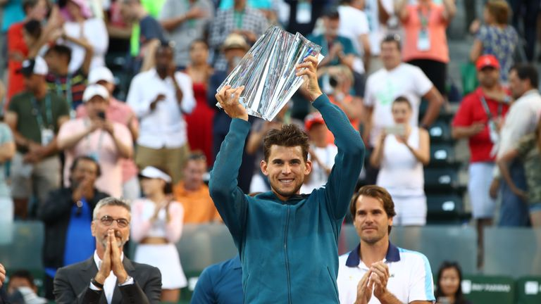 Thiem had lost each of his two previous Masters finals