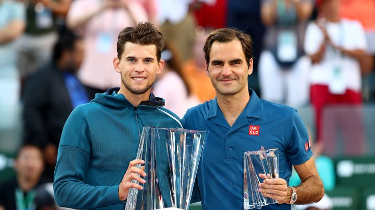 Thiem rallies to deny Federer sixth Indian Wells title