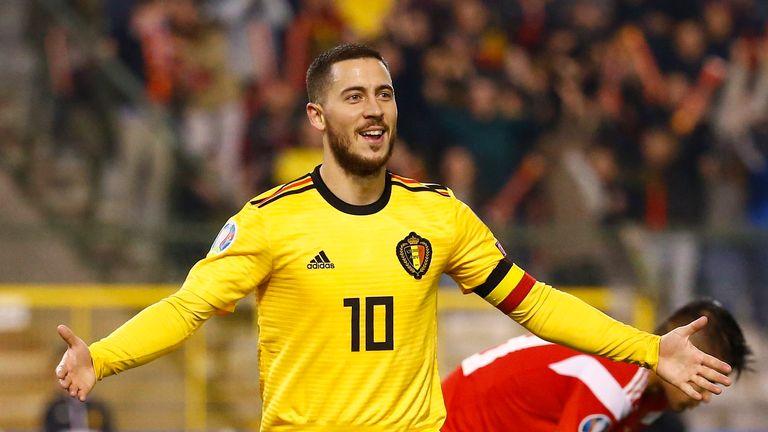 Eden Hazard scored twice as Belgium defeated Russia 3-1 in Brussels