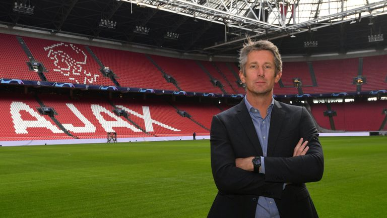 Ajax Amsterdam CEO Edwin van der Sar poses at the Johan Cruijff ArenA in Amsterdam on February 12, 2019.