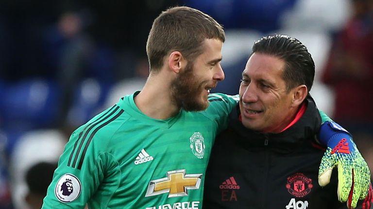 Goalkeeping coach Emilio Alvarez has a strong relationship with David de Gea