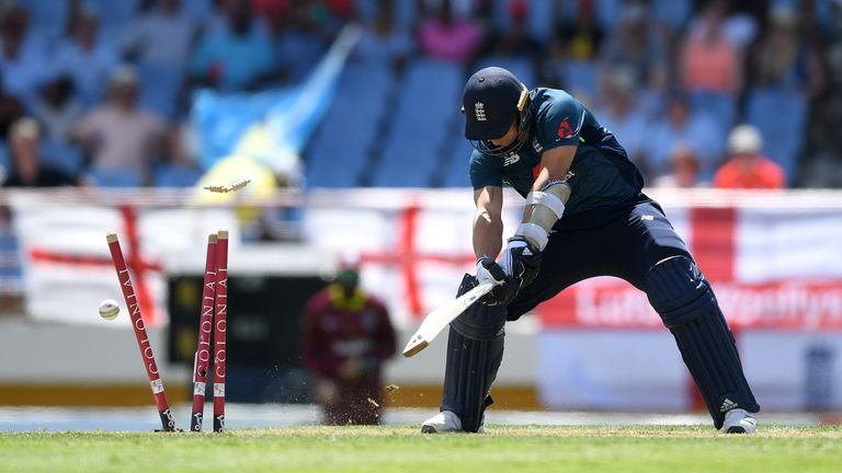 England were bowled out for their lowest total against Windies