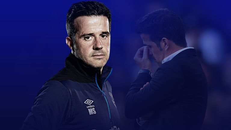 Marco Silva is battling to get things back on track at Everton