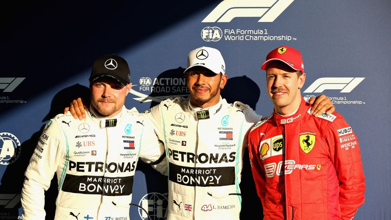 Australian GP Qualifying: Lewis Hamilton leads Mercedes one